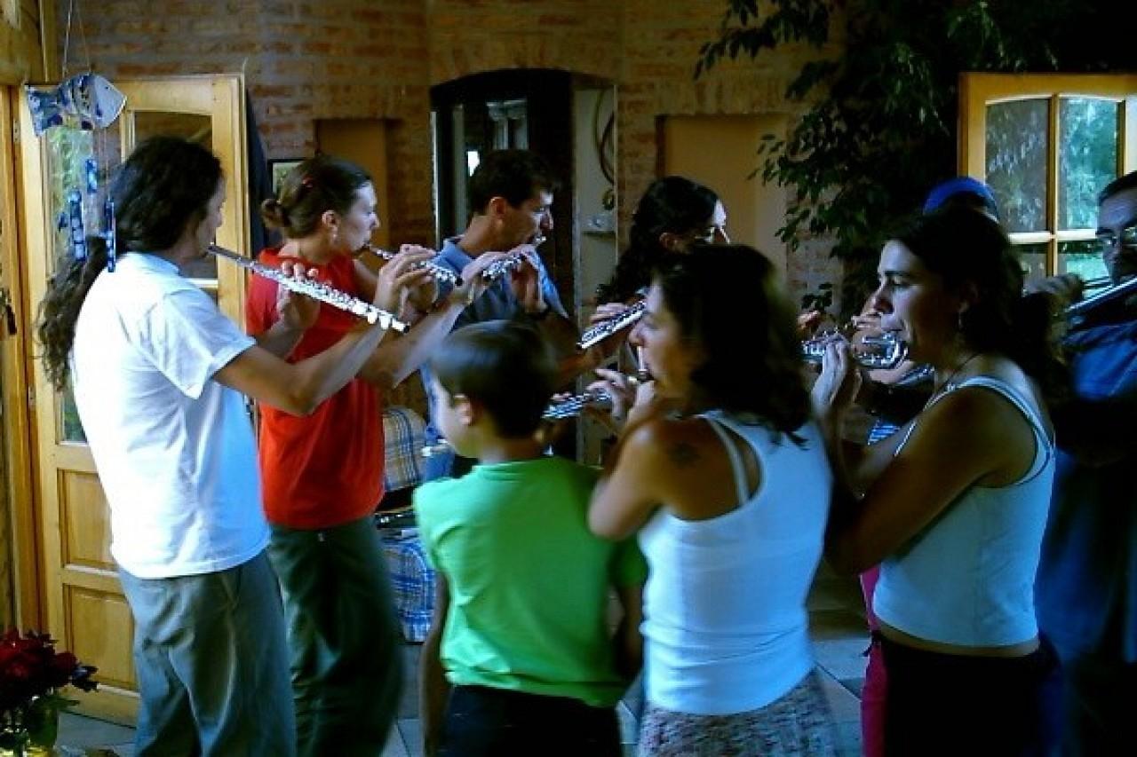 Fernando Formigo's flute ensemble