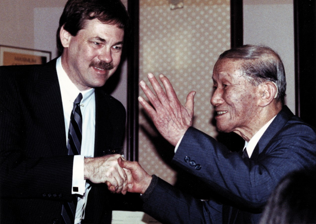 Frank Longay with Dr. Shinichi Suzuki