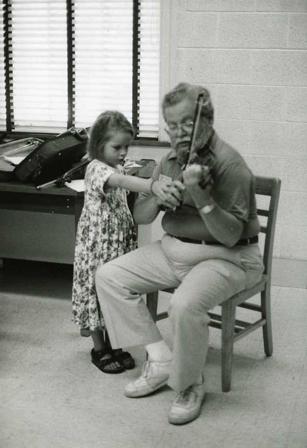 Violin lesson at South Carolina institute in 1994