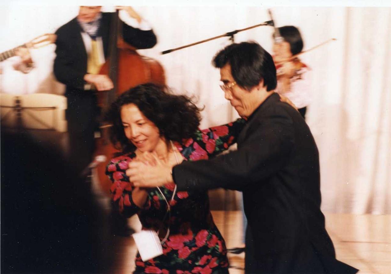Michiko Yurko and Toshio Takahasi dance