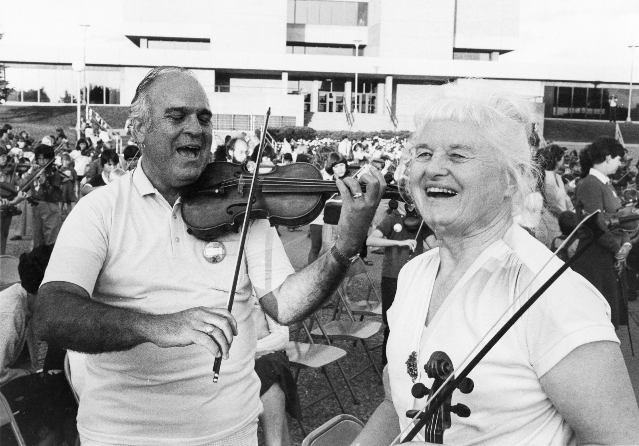 Joe Cleveland and Margery Aber, August 1982