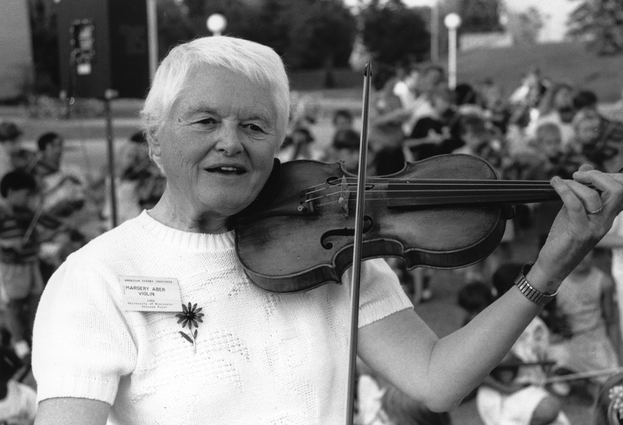 Margery Aber and Violin, August 1988
