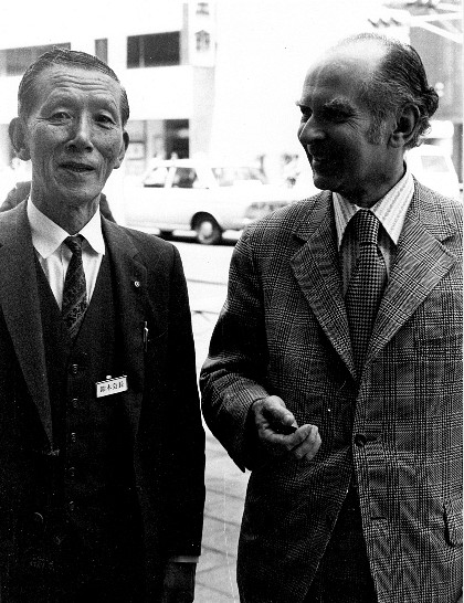 Milton Goldberg and Shinichi Suzuki in 1973
