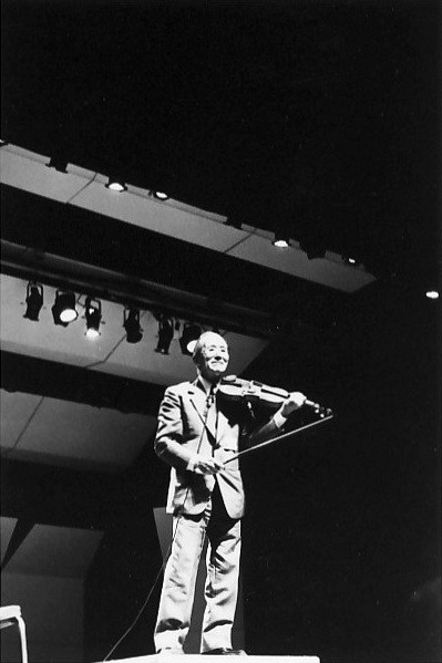 Dr. Shinichi Suzuki in Amherst in 1981