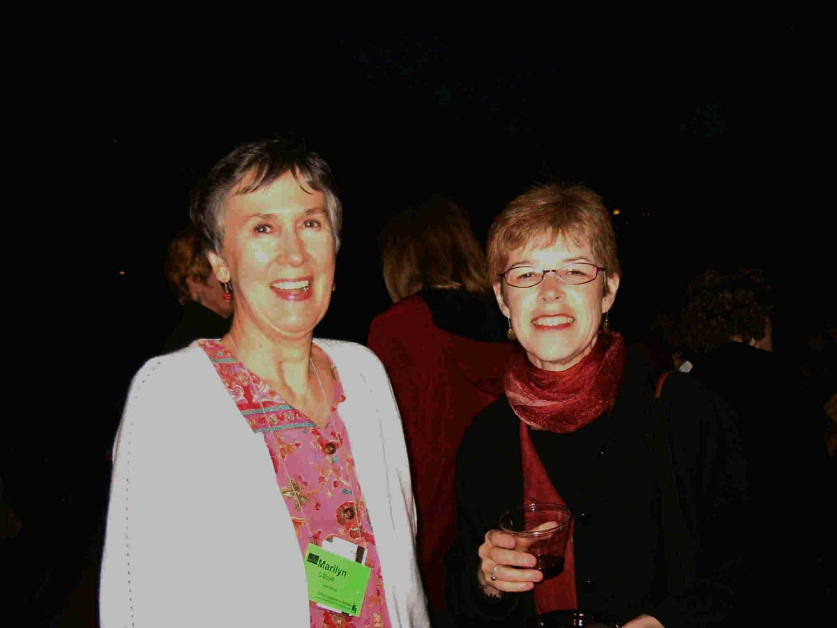 Marilyn O'Boyle and Joanne Martin at the 2005 SAA Leadership Retreat