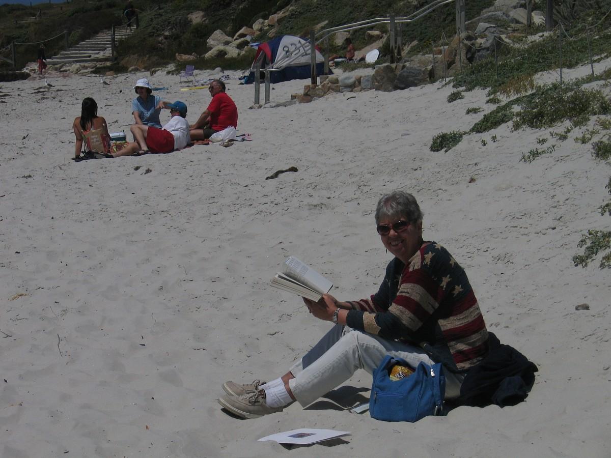 Cleo Brimhall on the beach at the 2005 SAA Leadership Retreat