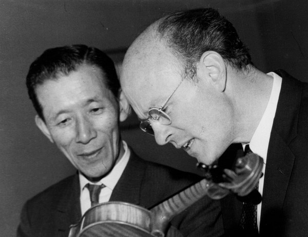 John Kendall with Shinichi Suzuki