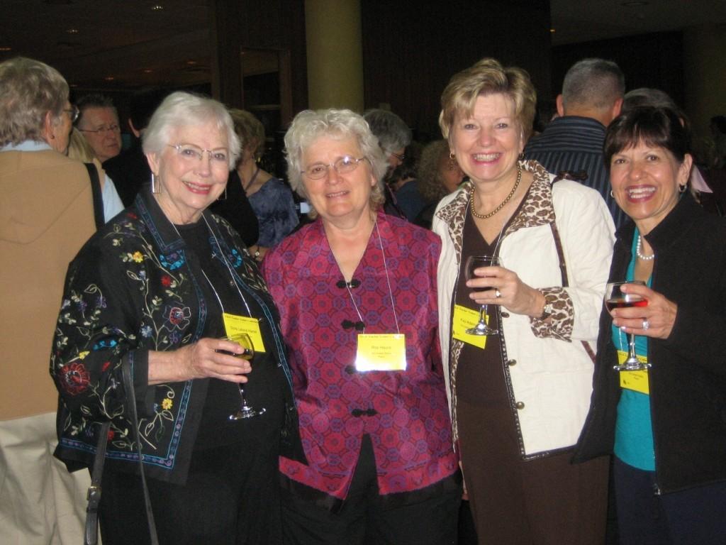 Doris Harrel, Rita Hauck, Fay Adams, and Jane Kutscher Reed