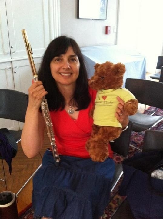 Benson the Suzuki Flute Bear at the Boston Suzuki Institute