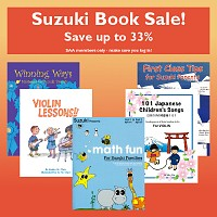 Suzuki Book Sale—Save up to 33% SAA members only—make sure you log in!