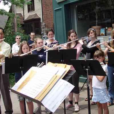 Sidewalk Serenade: Great Lakes Suzuki Flute & Recorder Institute