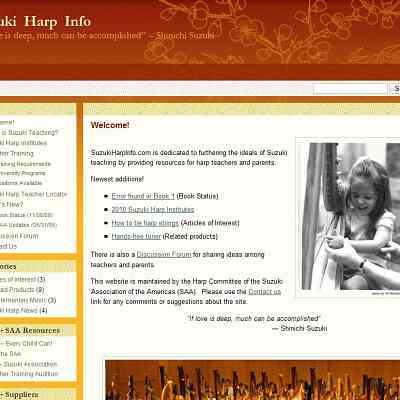 New Suzuki Harp Website