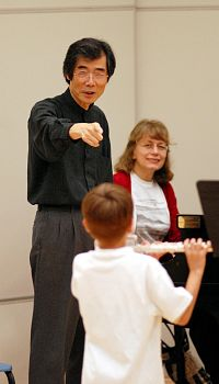 Toshio Takahashi and student
