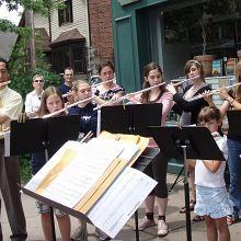 Sidewalk Serenade Great Lakes Suzuki Flute  Recorder Institute