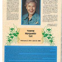 In Memoriam Yvonne Tait