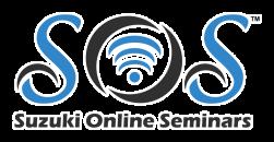 Suzuki Online Seminars—Logo White Highlight