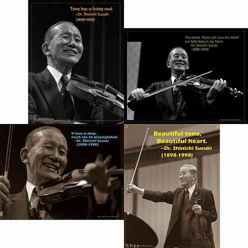 4 Mini Poster Collection of Dr. Shinichi Suzuki