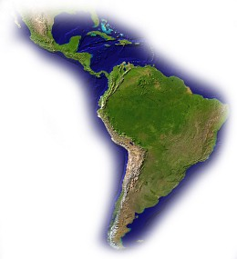 Central and South America Map