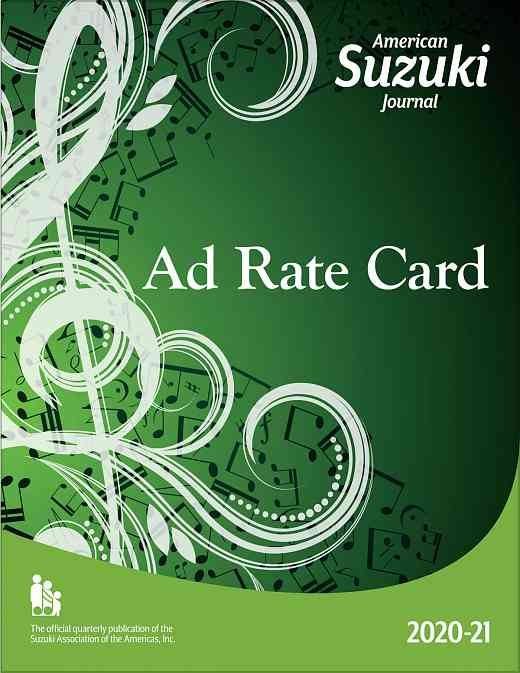 American Suzuki Journal Advertising Rate Card