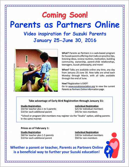 Parents as Partners Online poster 2016