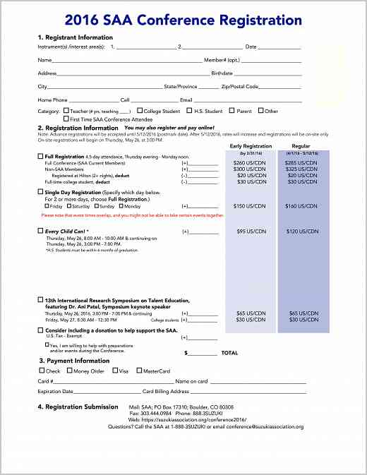 2016 Conference Registration Form