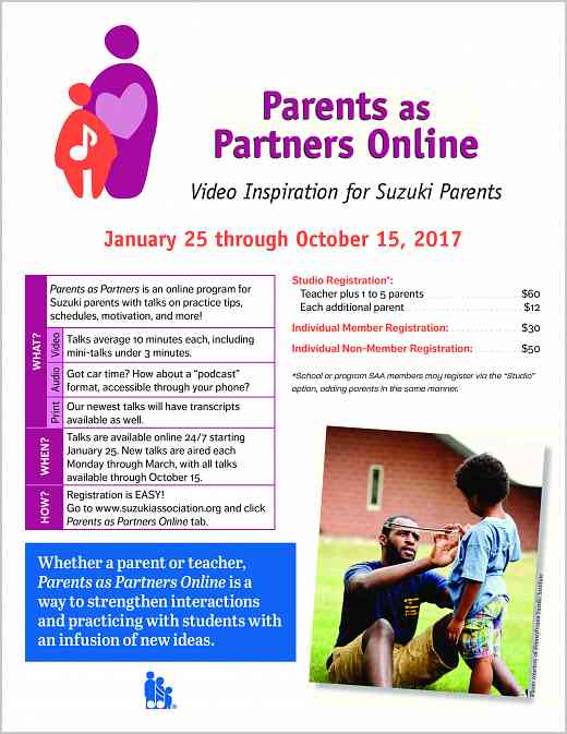 Parents as Partners 2017 Poster