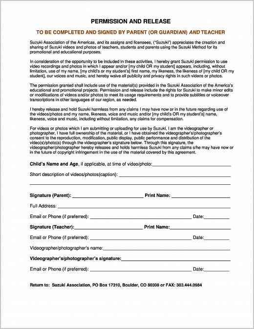 Talent Release Form Template Boy Scouts Talent Release Form Boy