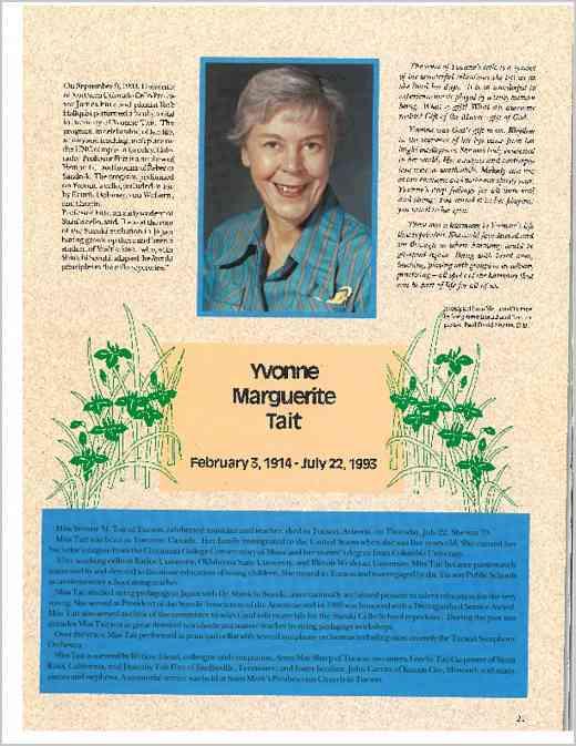 Yvonne Tait Memorial from ASJ 22.1