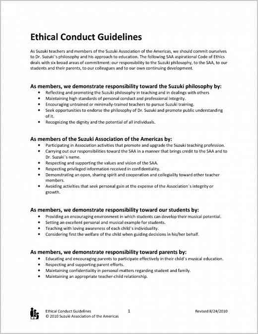 Ethical Conduct Guidelines