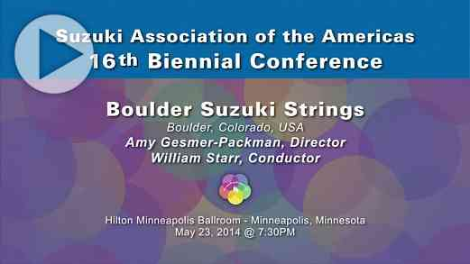 Boulder Suzuki Strings—Conference 2014