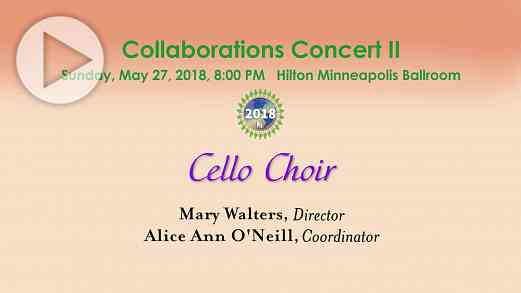 Cello Choir —SAA Conference 2018