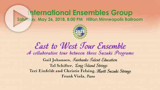 International Ensembles: East to West Tour Ensemble —SAA Conference 2018