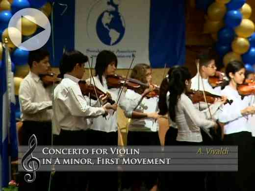 Concerto for Violin in a minor, 1st mvt