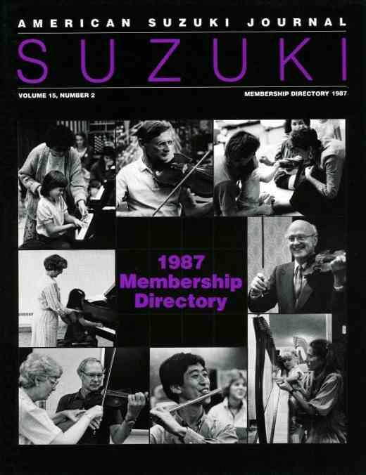 American Suzuki Journal volume 15.2.