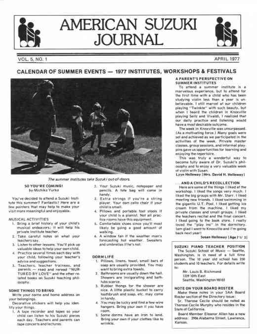 American Suzuki Journal volume 5.1