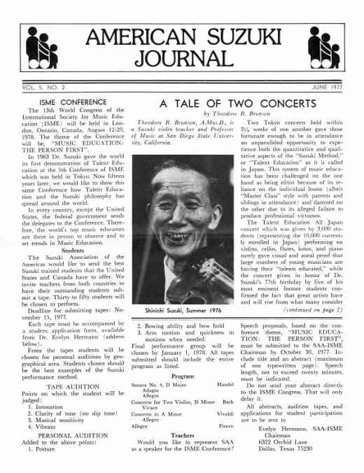American Suzuki Journal volume 5.2