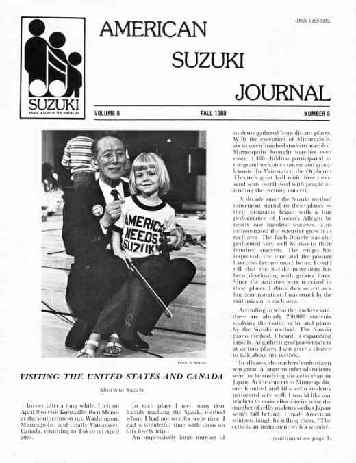 American Suzuki Journal volume 8.5