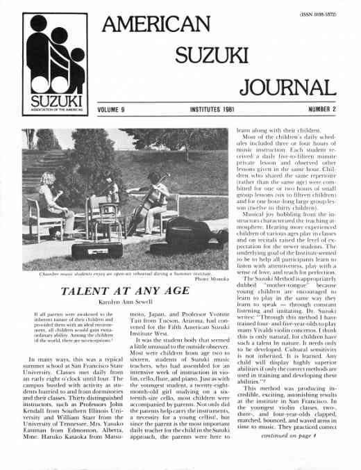 American Suzuki Journal volume 9.2