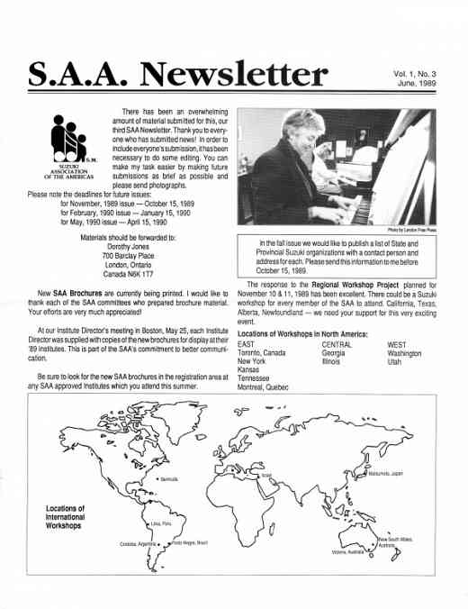 SAA Newsletter volume 1.3.