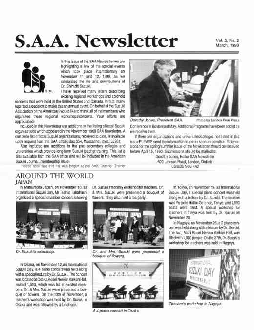 SAA Newsletter volume 2.2.