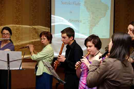 Flute and recorder playing session at the 2010 Conference