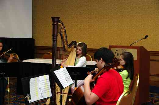 Chamber music group at the 2010 Conference
