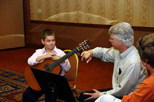 Bill and Adam Kossler give a guitar masterclass at the 2010 Conference