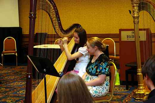 Angela Willis gives a harp masterclass at the 2010 Conference
