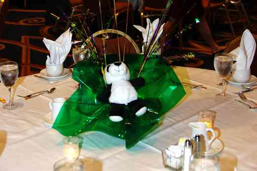 Table settings at the awards banquet at the 2010 Conference