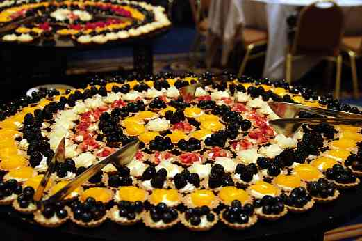 Dessert trays at the awards banquet at the 2010 Conference