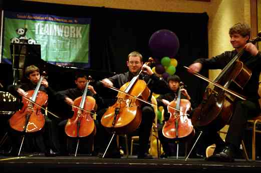 Cellisimo performs at the 2010 Conference awards banquet