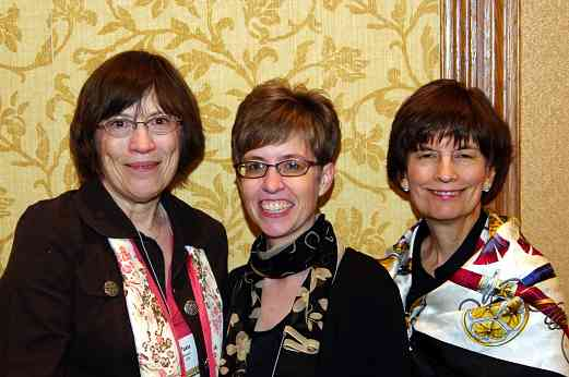 Pam Brasch, Executive Director, Chirstie Felsing, Conference Coordinator, and Debbie Moench, Assistant Conference Coordinator, at the 2010 Conference