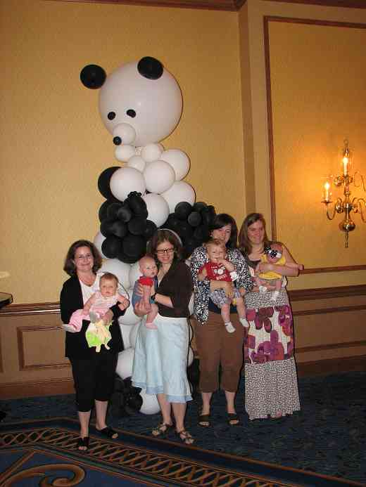Conference balloon panda and cute babies