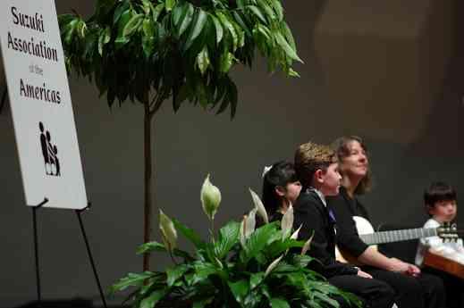 Gavin George, Lucy Sotak, MaryLou Roberts, and Shun Nakashima in the Kaleidoscope Concert